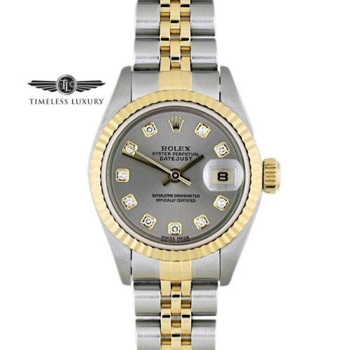 2002 Ladies Rolex Datejust 179173 diamond dial