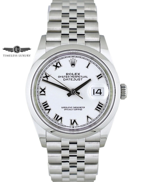 2020 Rolex Datejust 126200 white roman dial