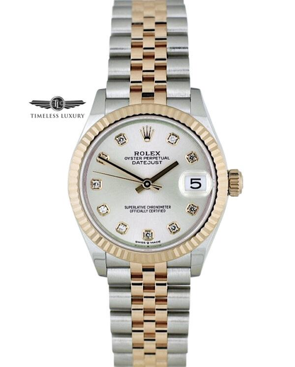 2020 Ladies Rolex Datejust 278271 Silver diamond dial