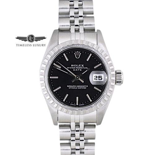 1999 Ladies Rolex Date 79160 Black dial