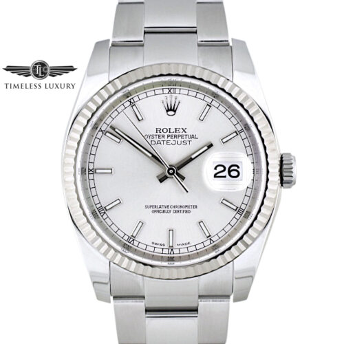 2016 Rolex Datejust 116234 Silver dial 36mm