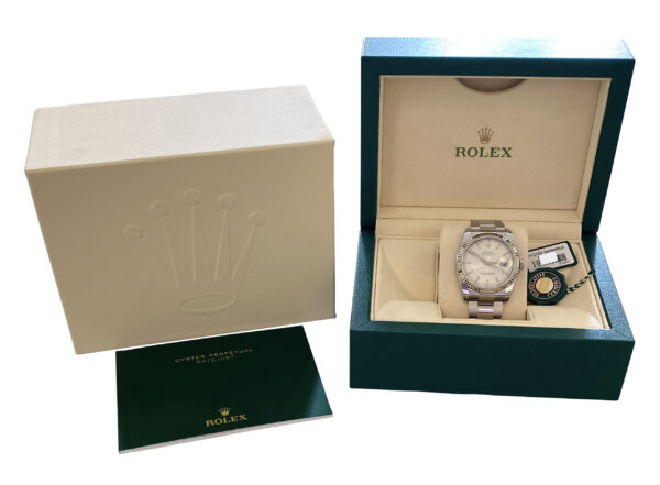 2016 Rolex Datejust 166234 36mm silver dial for sale