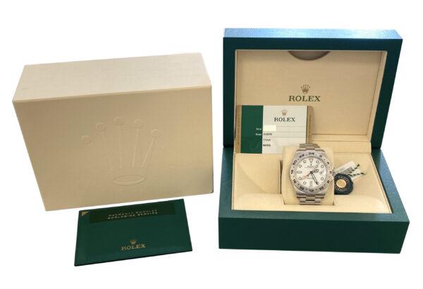 2020 Rolex Explorer II 216570 Polar Dial For sale