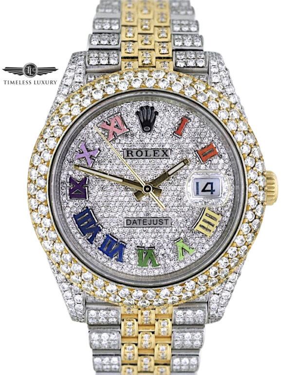 Rolex Datejust 126333 Custom Diamond Watch