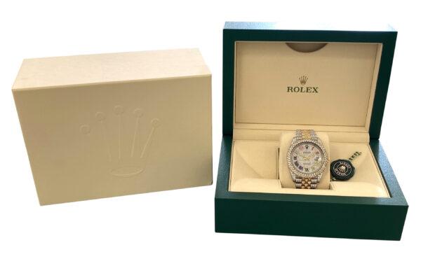 Rolex datejust 126333 diamond watch