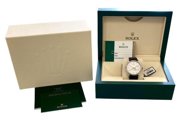 2017 Rolex Cellini Date 50519 silver dial for sale