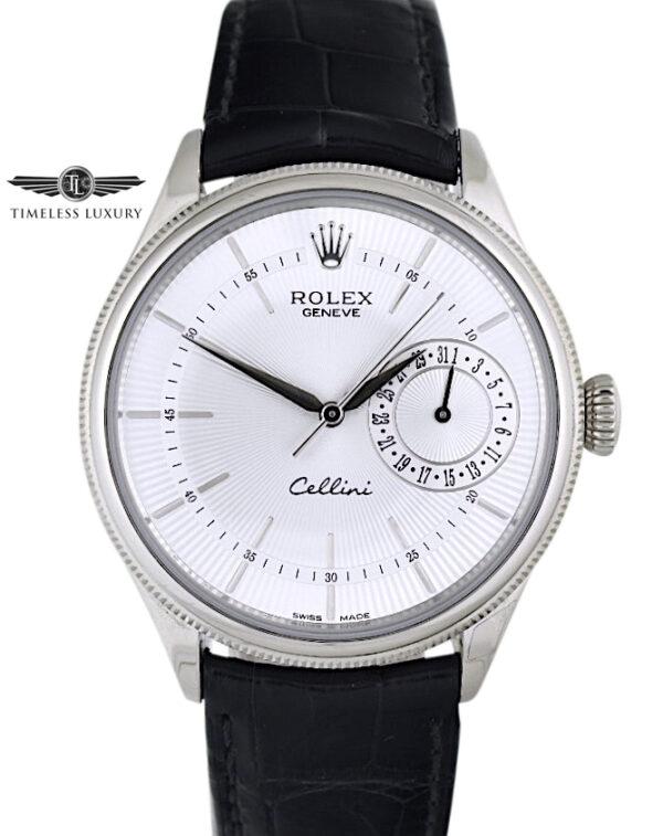 Rolex Cellini Date 50519 Silver dial