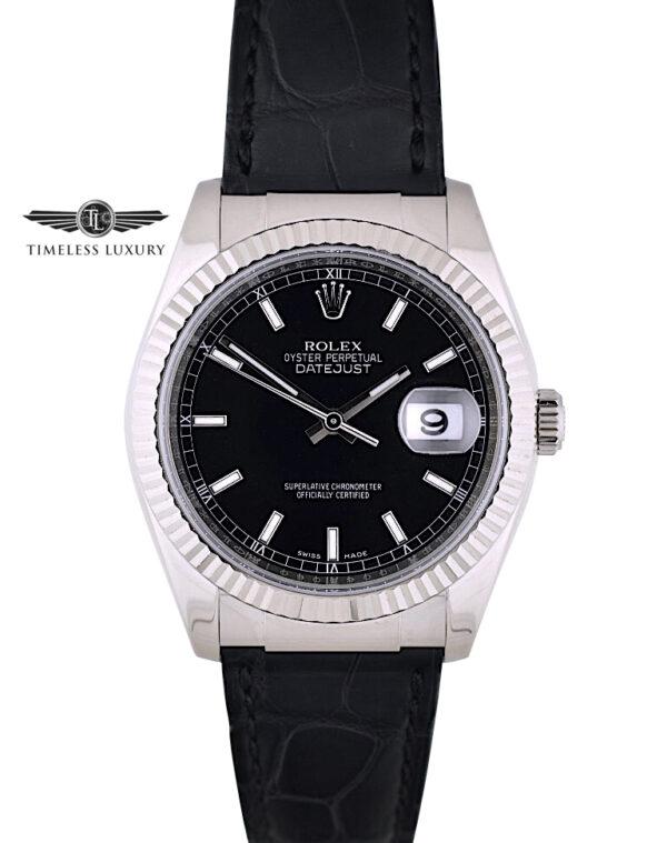 Rolex Datejust 116139 white gold 36mm