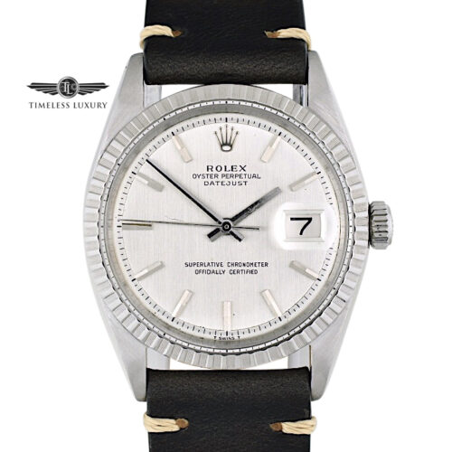 1966 Rolex Datejust 1603 Stainless steel silver dial