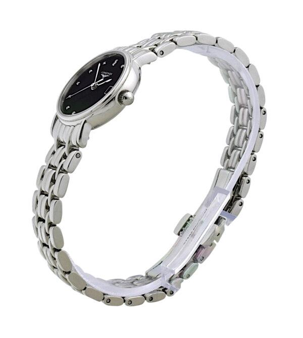 Ladies Longines Presence L4.220.4.97.6 black diamond dial