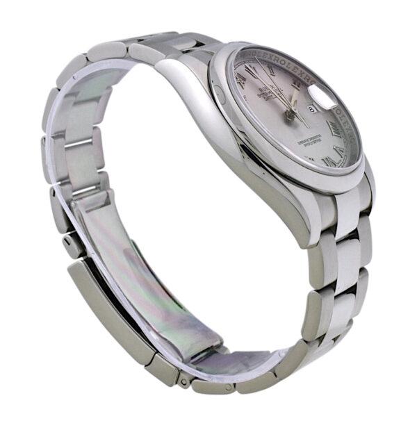 Rolex Datejust 116200 Rhodium Roman Dial