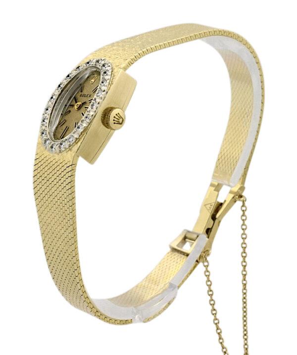 Vintage Ladies Rolex Cocktail watch 8197 diamond bezel