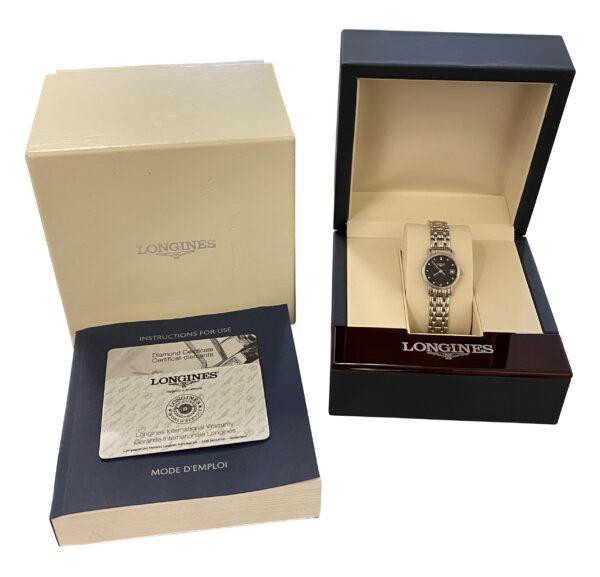Ladies Longines Presence L4.220.4.97.6 black diamond dial for sale new
