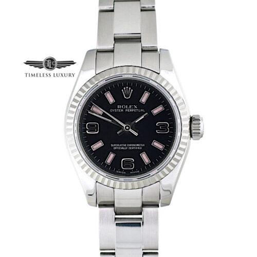 Ladies Rolex Oyster Perpetual 176234 Black & pink dial