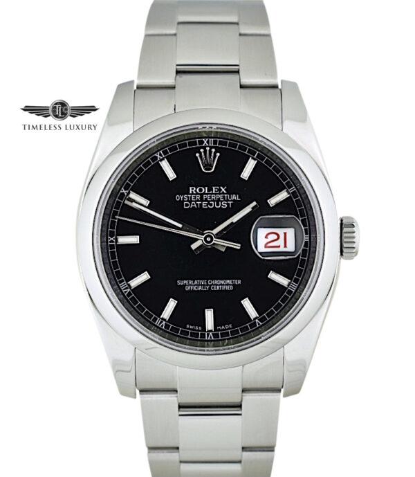 Rolex Datejust 116200 black dial 36mm