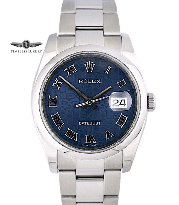 2007 Rolex Datejust 116200 Blue Jubilee Dial